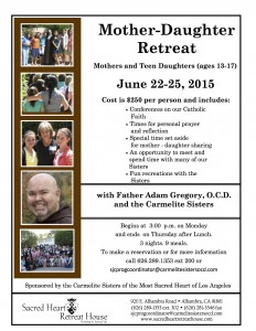 Mother Daughter Retreat 2015 (Revised 3-3-15)[1]