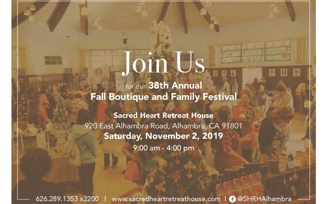 38th Annual Fall Family Festival & Boutique | Saturday, November 2nd